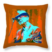 Abstract Of Leonard Cohen Throw Pillow