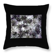Abstract Of Low Growing Evergreen Shrub Throw Pillow