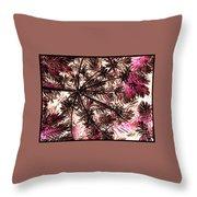 Abstract Of Low Growing Shrub  Throw Pillow