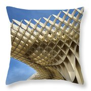 Abstract Of Metropol Parasol Pod At Plaza Of The Incarnation Sev Throw Pillow