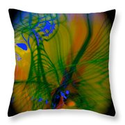 Abstract Of Music And Harmony Throw Pillow