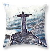 Abstract Of Our Saviour  Throw Pillow