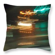 Abstract Of Racing Cars Throw Pillow