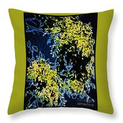Abstract Of Tree And Leaves Throw Pillow