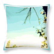 Abstract  Of Trees And Sky Throw Pillow