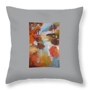 Abstract Of Wild Auge River  Throw Pillow