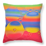 Abstract Oil And Water 7 Throw Pillow