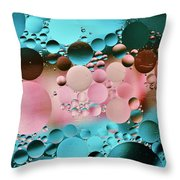 Abstract Oil And Water Throw Pillow
