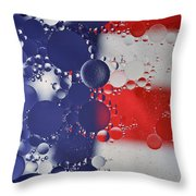 Abstract Oil And Water Usa 2 Throw Pillow