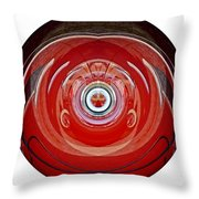 Abstract Old Car Framed Throw Pillow