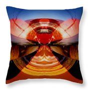 Abstract Old Car Spare Tire Throw Pillow