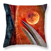 Abstract On Moon Throw Pillow