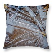 Abstract On The Rocks Throw Pillow