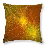 Abstract Orange Throw Pillow