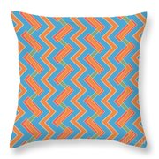 Abstract Orange, Red And Cyan Pattern For Home Decoration Throw Pillow
