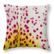 Abstract Orchid Throw Pillow