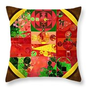 Abstract Painting - Bistre Throw Pillow