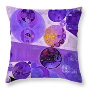 Abstract Painting - Blackcurrant Throw Pillow
