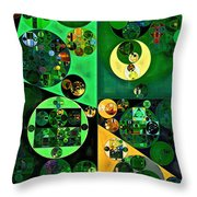 Abstract Painting - Camarone Throw Pillow