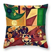 Abstract Painting - Cherokee Throw Pillow