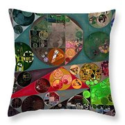 Abstract Painting - Chicago Throw Pillow