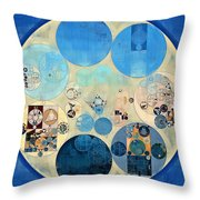 Abstract Painting - Curious Blue Throw Pillow