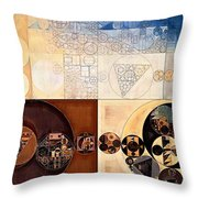 Abstract Painting - Dairy Cream Throw Pillow