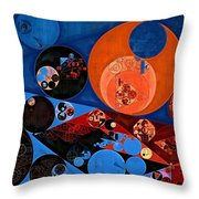 Abstract Painting - Dark Midnight Blue Throw Pillow