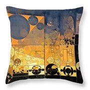 Abstract Painting - Davy Grey Throw Pillow