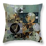 Abstract Painting - Dove Grey Throw Pillow