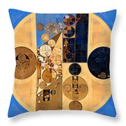 Abstract Painting - Earth Yellow Throw Pillow