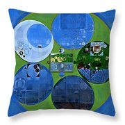 Abstract Painting - Everglade Throw Pillow