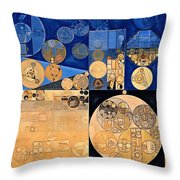 Abstract Painting - Fawn Throw Pillow