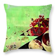 Abstract Painting - Feijoa Throw Pillow
