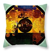 Abstract Painting - Gamboge Throw Pillow