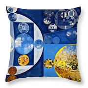 Abstract Painting - Havelock Blue Throw Pillow