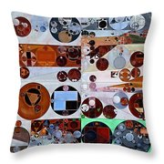 Abstract Painting - Heather Throw Pillow