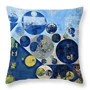Abstract Painting - Kashmir Blue Throw Pillow