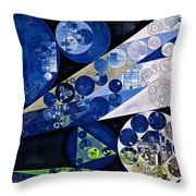 Abstract Painting - Lavender Gray Throw Pillow