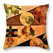 Abstract Painting - Light Brown Throw Pillow
