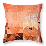 Abstract Painting - Mandys Pink Throw Pillow