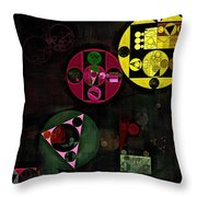 Abstract Painting - Metallic Gold Throw Pillow