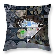 Abstract Painting - Mid Grey Throw Pillow