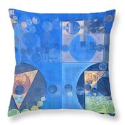 Abstract Painting - Mist Grey Throw Pillow