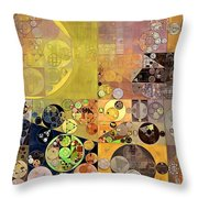 Abstract Painting - Pale Brown Throw Pillow