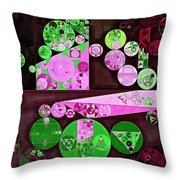Abstract Painting - Pale Plum Throw Pillow