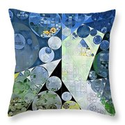 Abstract Painting - Paris White Throw Pillow