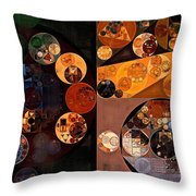Abstract Painting - Persian Orange Throw Pillow