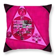Abstract Painting - Persian Pink Throw Pillow
