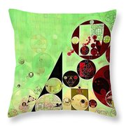 Abstract Painting - Reef Throw Pillow